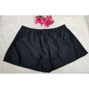 Swimsuits for All black pull-on swim shorts NWT